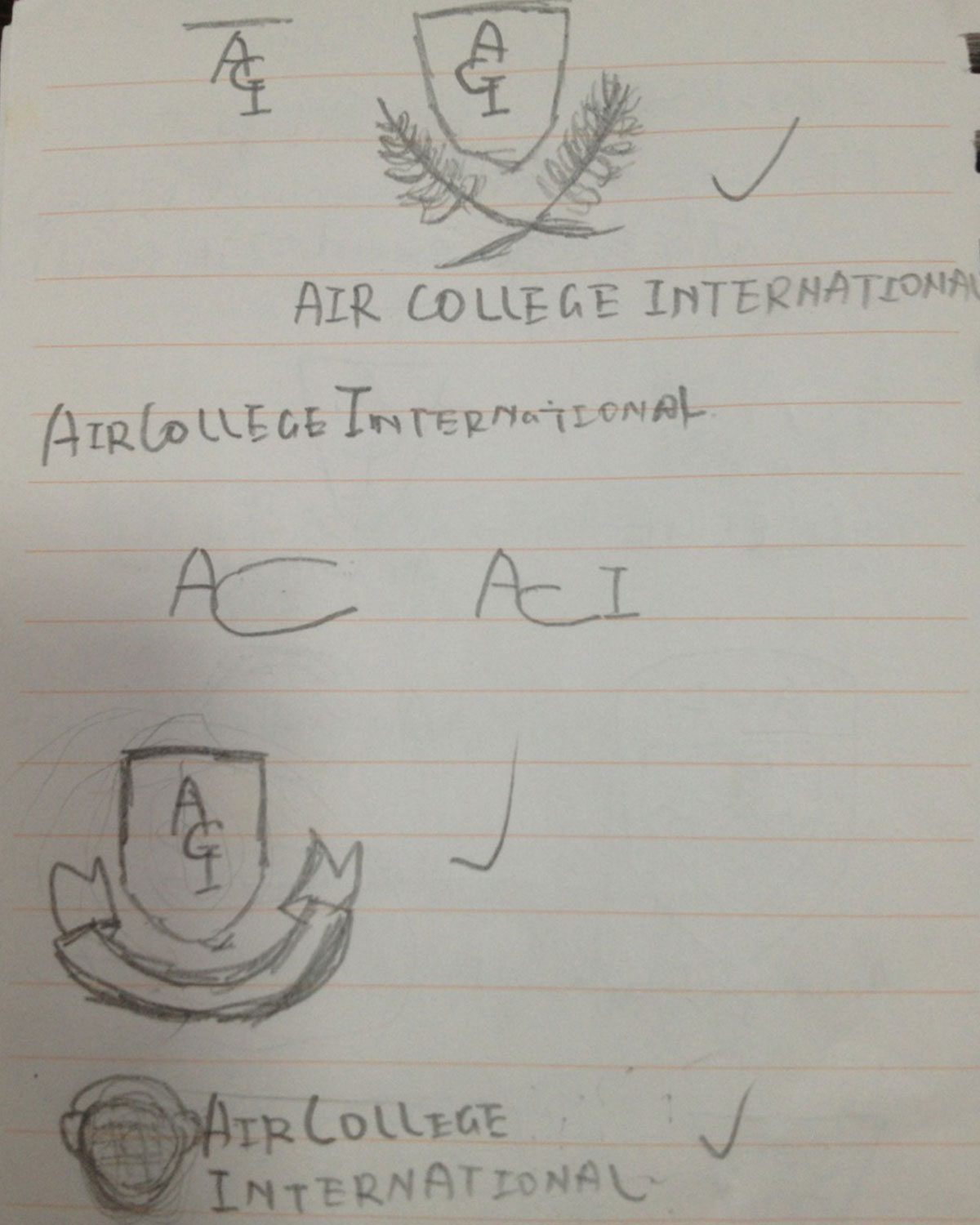 Air College International - Stakeholder's initial rough sketches 1