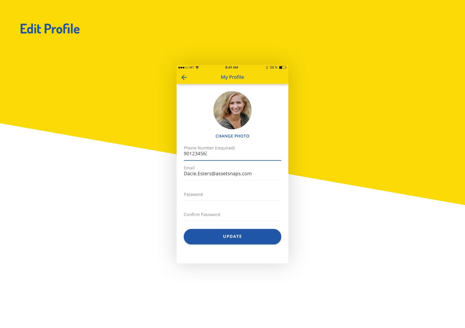 Asset Snaps - Edit Profile