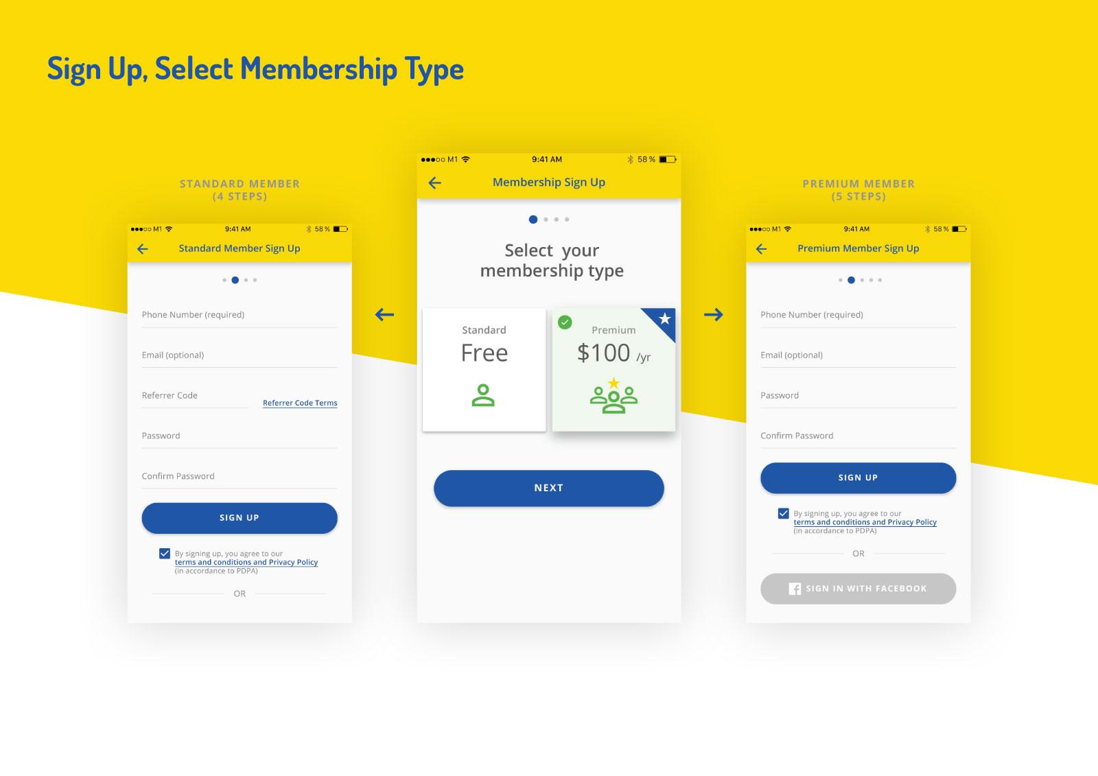 Asset Snaps - Sign Up, Select Membership Type