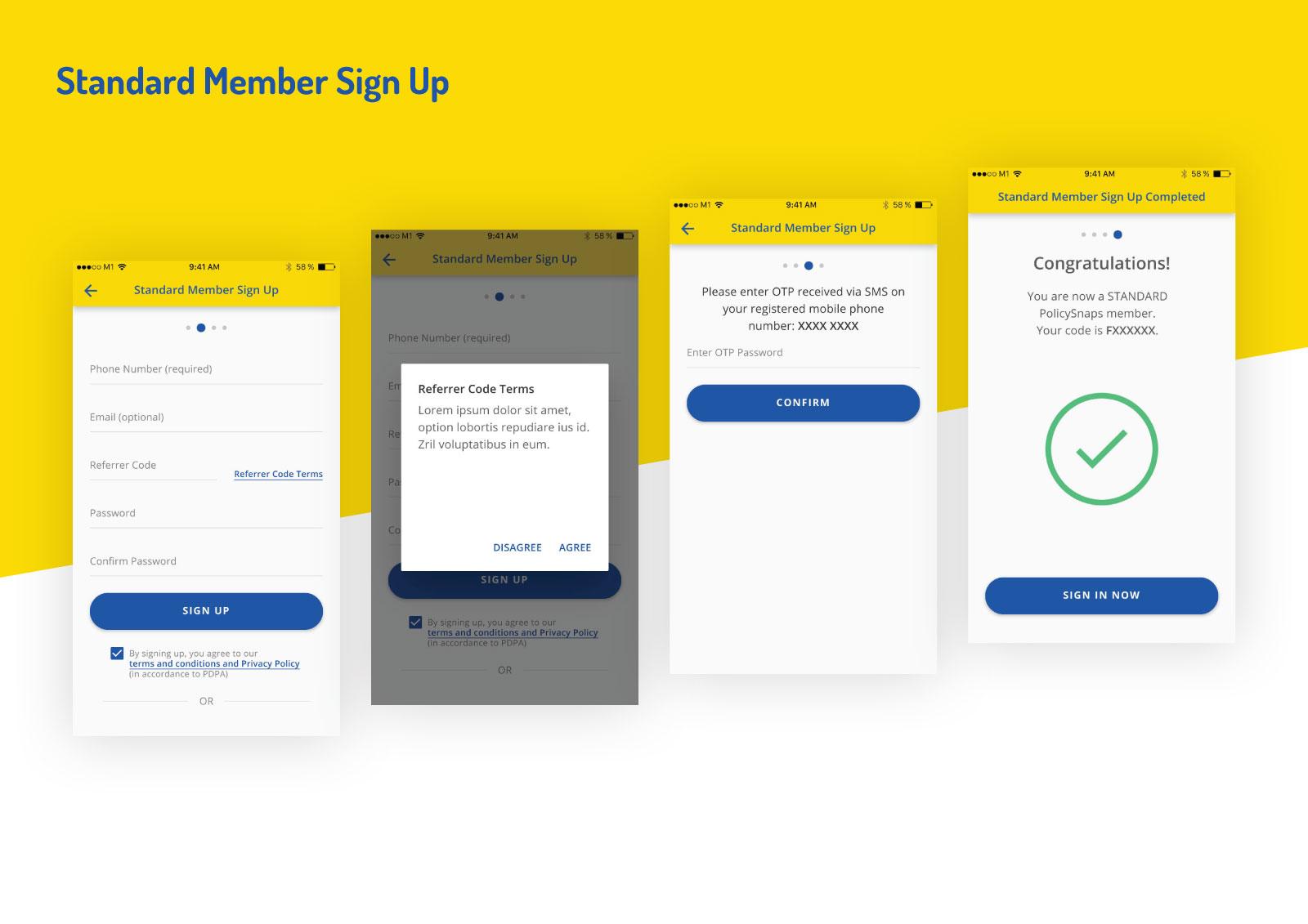 Asset Snaps - Standard Member Sign Up