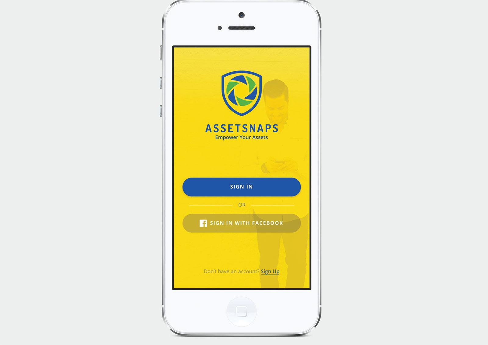 Asset Snaps - Mobile App Design