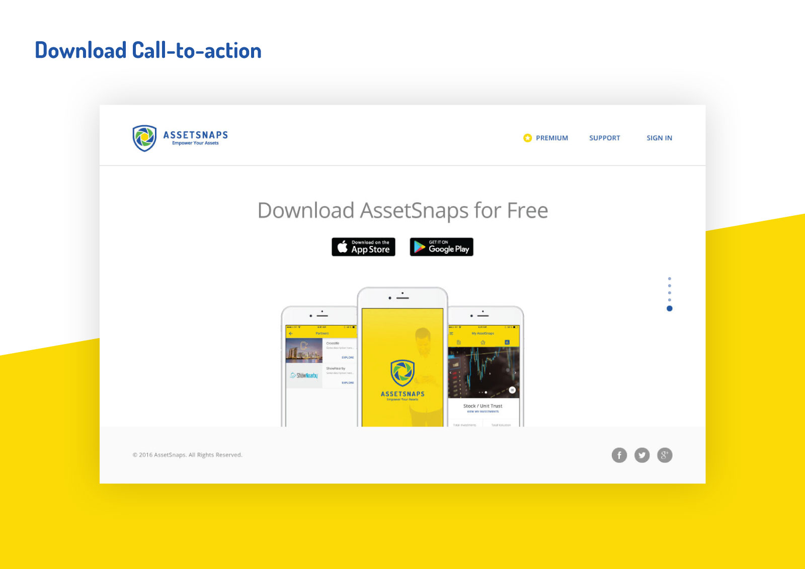 Asset Snaps - Download Call-to-action