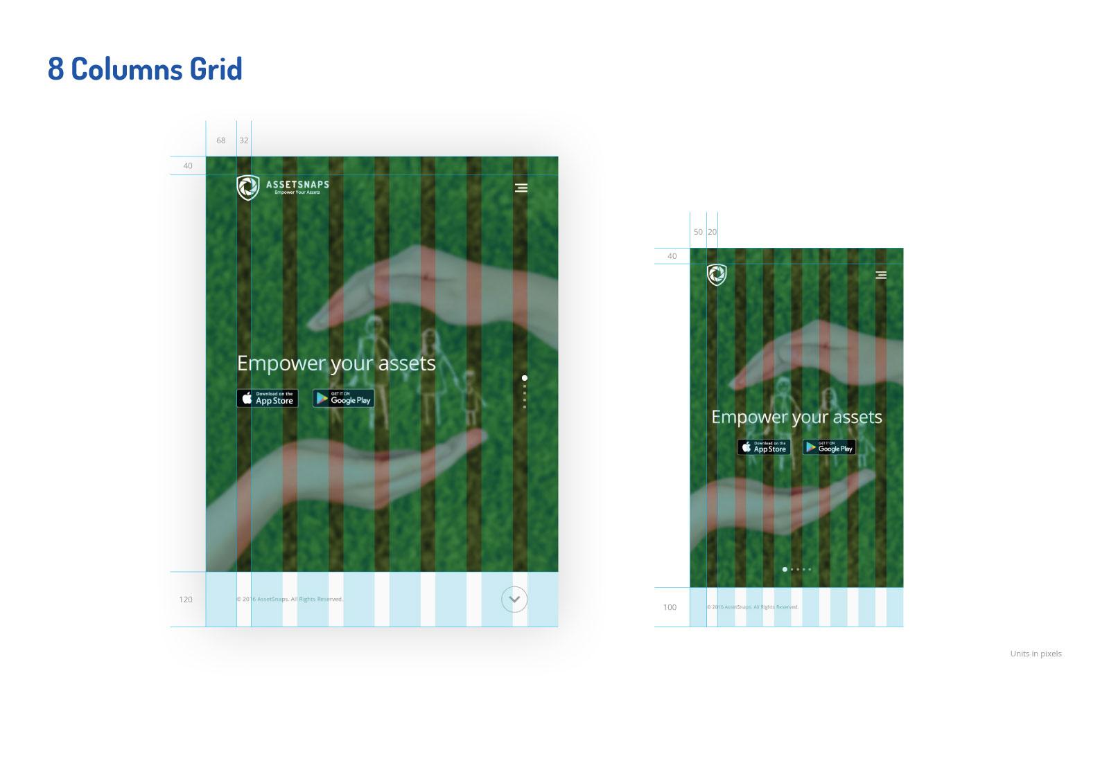 Asset Snaps - 8 Columns Grid