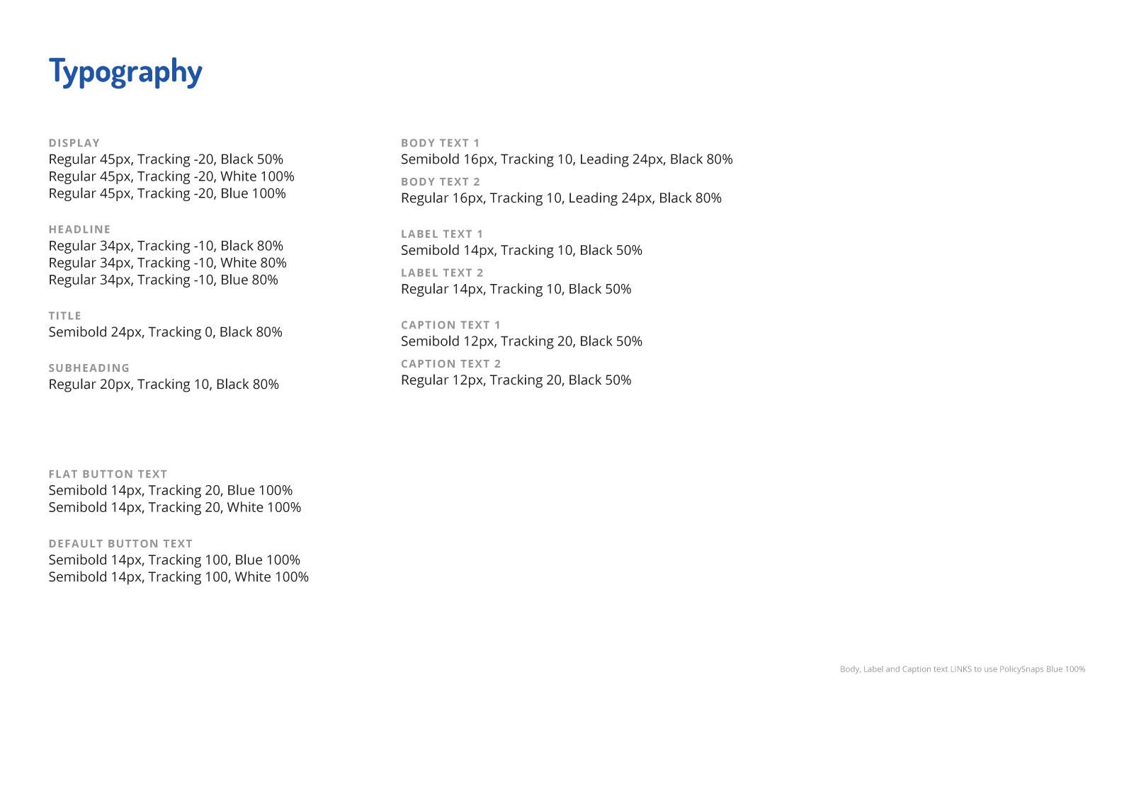 Asset Snaps - Web UI Typography