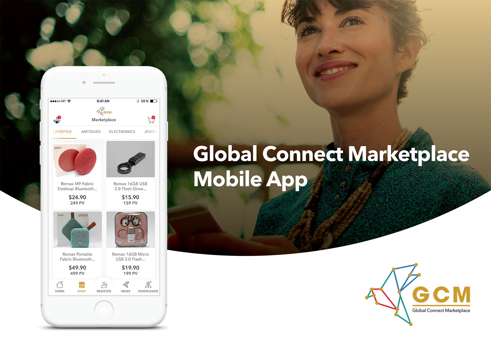 Global Connect Marketplace - App UI Design