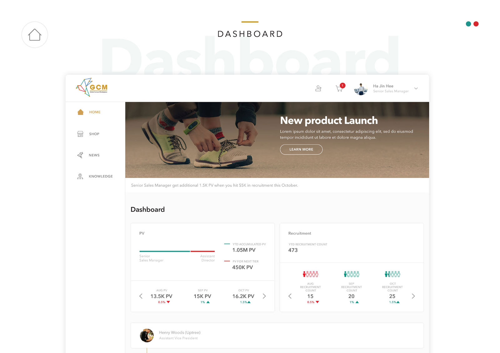 Global Connect Marketplace - Dashboard