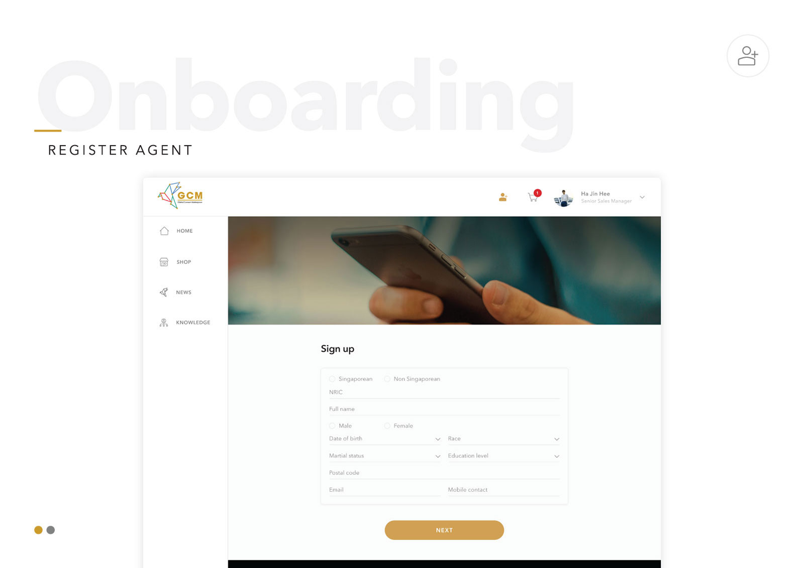 Global Connect Marketplace - Member's Onboarding
